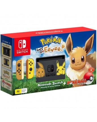 Nintendo Switch + Pokemon Lets Go Eevee NAUDOTAS