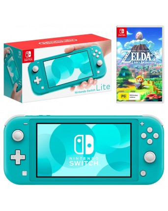 Nintendo Switch Lite  + The Legend Of Zelda Links Awakening NAUDOTAS