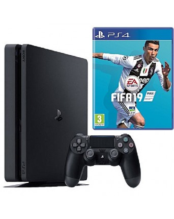 Sony Playstation 4 Slim 500GB + Fifa 19 NAUDOTAS