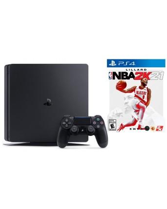 Sony Playstation 4 Slim 1TB + NBA 2K21 Ps4 NAUDOTAS
