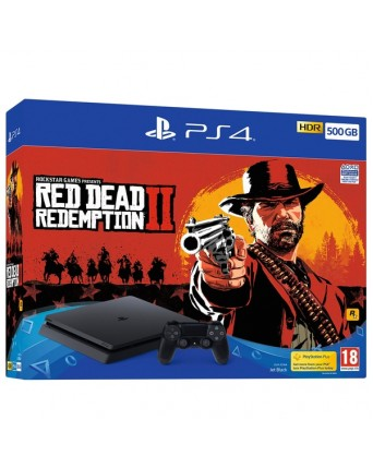 Sony Playstation 4 Slim 500GB + Red Dead Redemption II NAUJAS