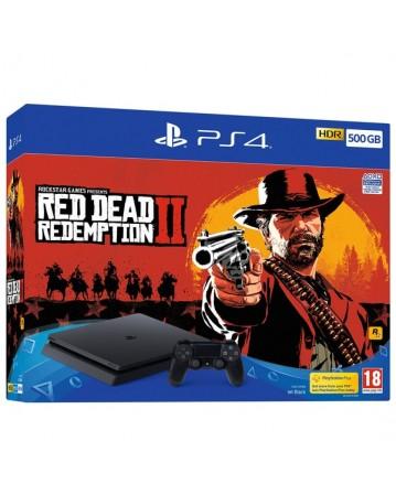 Sony Playstation 4 Slim 500GB + Red Dead Redemption II NAUJAS