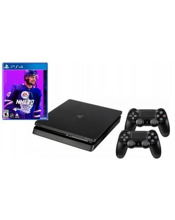 Sony Playstation 4 Slim 500GB + papildomas pultelis + NHL 20 NAUDOTAS