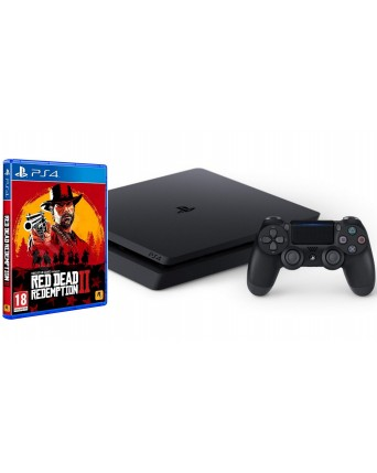SONY PLAYSTATION 4 SLIM 500GB + RED DEAD REDEMPTION II NAUDOTAS