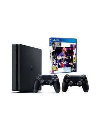 SONY PLAYSTATION 4 SLIM 1TB + FIFA 21 + PAPILDOMAS PULTELIS NAUDOTAS