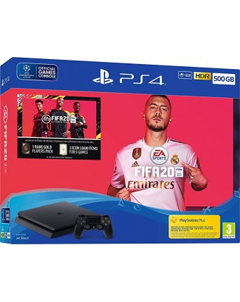 Sony Playstation 4 Slim 500GB + Fifa 20 NAUJAS