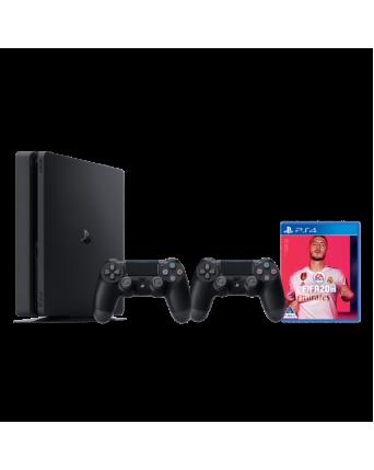 Sony Playstation 4 Slim 500GB + Fifa 20 + Papildomas Pultelis NAUDOTAS