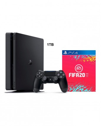 Sony Playstation 4 Slim 1TB + Fifa 20 NAUDOTAS