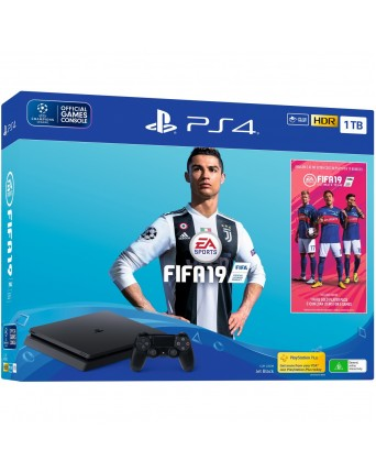 Sony Playstation 4 Slim 1TB + Fifa 19 NAUJAS