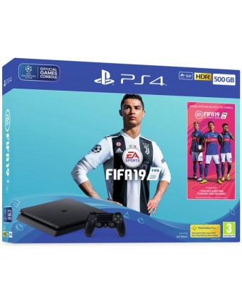 Sony Playstation 4 Slim 500GB + Fifa 19 NAUJAS