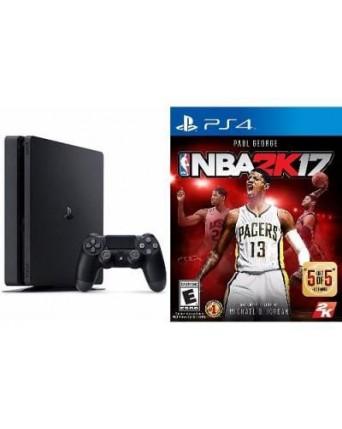 Sony Playstation 4 Slim 500GB + NBA 2K17 NAUDOTAS