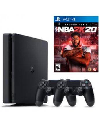 Sony Playstation 4 Slim 500GB  +2 Pulteliai + NBA 2K20 NAUDOTAS