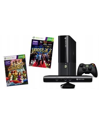 Xbox 360 E 4GB + KINECT SENSORIUS + DU ŽAIDIMAI Naudota