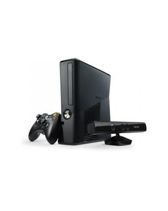 Xbox 360 Slim 250GB Atrištas RGH + Kinect Kamera NAUDOTAS