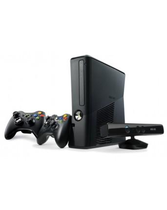 Xbox 360 Slim 250GB Atrištas RGH Papildomas Pultelis + Kinect Kamera NAUDOTAS
