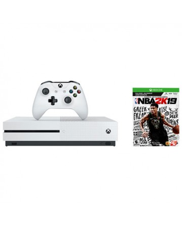 Xbox One Slim 500GB + NBA 2K19 NAUDOTAS