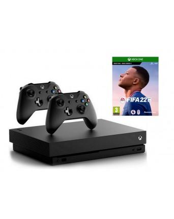 Xbox One X 1TB + Fifa 22 + Papildomas Pultelis NAUDOTAS