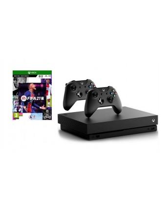 XBOX ONE X 1TB + FIFA 21 + PAPILDOMAS PULTELIS NAUDOTAS
