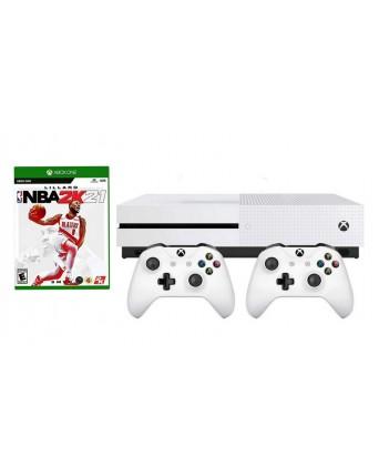 XBOX ONE Slim 500GB + NBA 2K21+ PAPILDOMAS PULTELIS NAUDOTAS