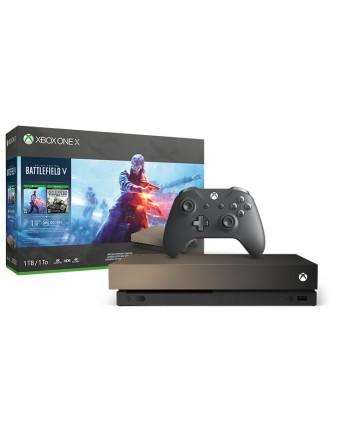 Xbox One X 1TB Gold Rush Special Edition + Battlefield V NAUJAS
