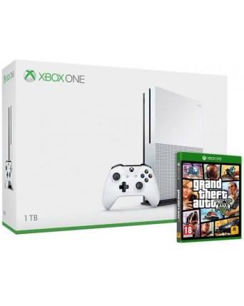 Xbox One Slim 1TB + GTA V NAUDOTAS