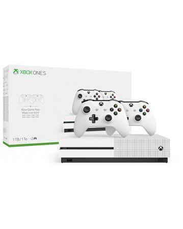 Xbox One Slim 1TB + Papildomas Pultelis NAUDOTAS