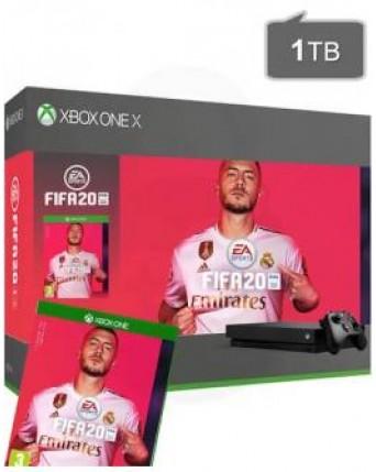 Xbox One X 1TB + Fifa 20 NAUDOTAS