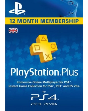 Playstation Plus 12 Month United Kingdom