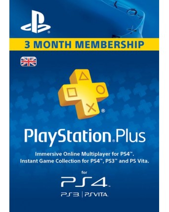 Playstation Plus 3 Month United Kingdom