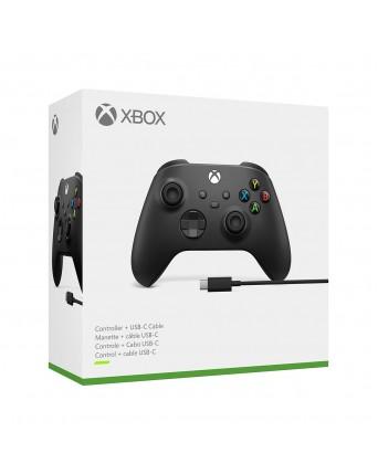 Xbox Series Originalus Belaidis Valdiklis Juodas + USB C laidas NAUJAS