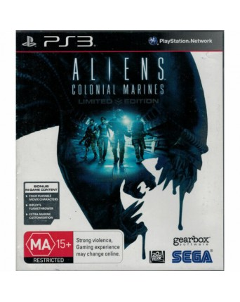Aliens Colonial Marines Ps3 NAUDOTAS