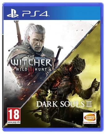 The Witcher Wild Hunt + Dark Souls III Ps4 NAUDOTAS